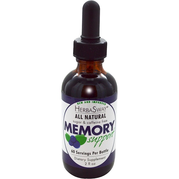 HerbaSway Labs, BlueBerry, All Natural Memory Support, 2 fl oz  (Discontinued Item)