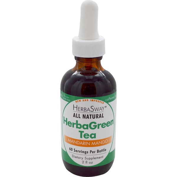 HerbaSway Labs, HerbaGreen Tea, Mandarin Mango, 2 fl oz (Discontinued Item)