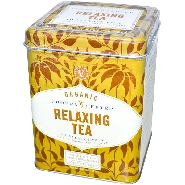Harney & Sons, Chopra Center, Organic Relaxing Tea, Caffeine Free, 20 Tea Bags, 1.48 oz (40 g) (Discontinued Item)