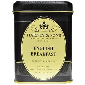 Harney & Sons, Смесь черного чая «Английский завтрак», 4 унции (112 г) инструкция, применение, состав, противопоказания