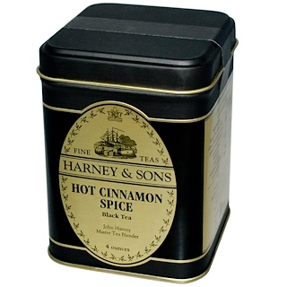 Harney & Sons, Black Tea, Hot Cinnamon Spice, 4 oz