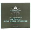 Harney & Sons, 一款浓郁、传统红茶,优质有机格雷伯爵茶,50 茶包,3.17 盎司(90 克)