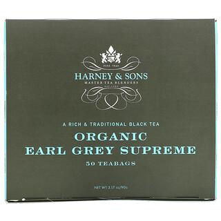 Harney & Sons, A Rich & Traditional Black Tea, Organic Earl Grey Supreme, 50 Tea Bags, 3.17 oz (90 g)