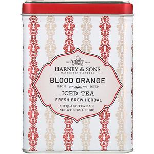 Харни энд сонс, Blood Orange Iced Tea, 6 — 2 Quart Tea Bags, 3 oz (0.11 g) отзывы покупателей
