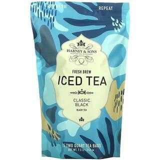 Harney & Sons, Fresh Brew Iced Tea, Classic Black , 15 Tea Bags, 7.5 oz (212 g)