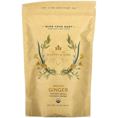 Harney & Sons Botanical Super Herbs, Organic Ginger, 10 oz (283 g)