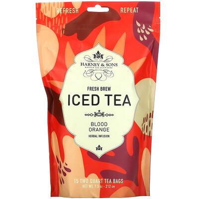 Harney & Sons Fresh Brew Iced Tea, Blood Orange, 15 Tea Bags, 7.5 oz (212 g)