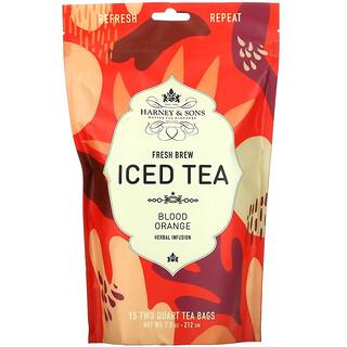 Harney & Sons, Fresh Brew Iced Tea, Blood Orange, 15 Tea Bags, 7.5 oz (212 g)