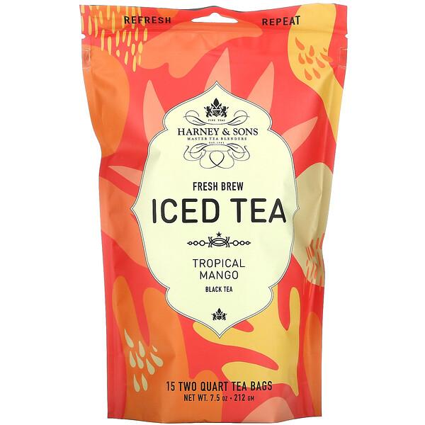 Fresh Brew Iced Tea, Tropical Mango Black Tea, 15 Tea Bags, 7.5 oz (212 g)