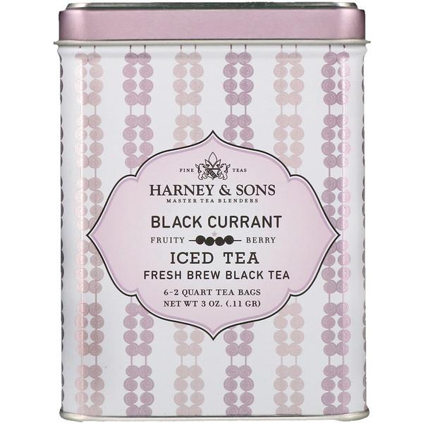 Harney Sons Black Currant Iced Tea 6 2 Quart Bags