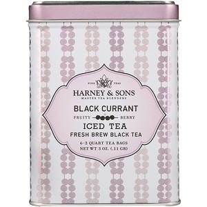 Харни энд сонс, Black Currant Iced Tea, 6 — 2 Quart Tea Bags, 3 oz (.11 g) отзывы