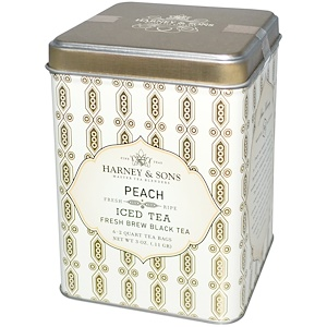 Харни энд сонс, Peach Iced Tea, 6 — 2 Quart Tea Bags, 3 oz (.11 g) отзывы покупателей