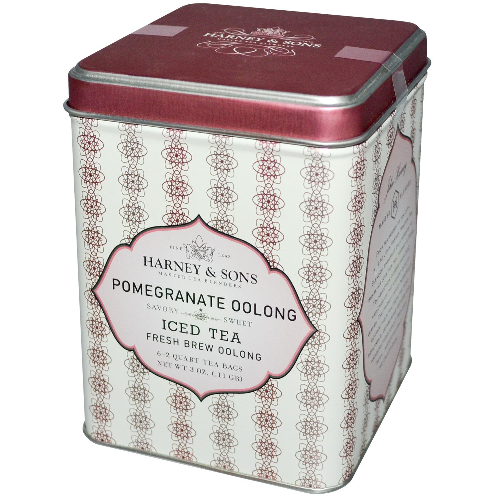 Harney Sons Pomegranate Oolong Iced Tea 6 2 Quart Bags
