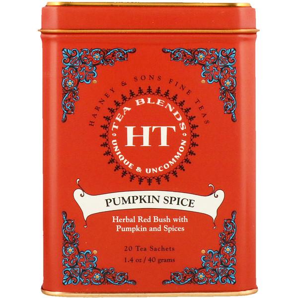 Harney & Sons, 混合茶,南瓜香料,20茶包,1、4盎司(40克)