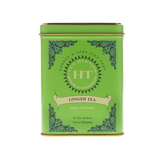 Harney & Sons, Ginger Tea, 20 Tea Sachets, 1.4 oz (40 g)
