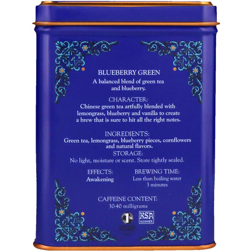 Harney & Sons, HT Tea Blend, Blueberry Green, 20 Sachets, 1.4 oz (40 g) - photo 1
