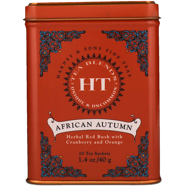 HT Tea Blend, African Autumn, 20 Tea Sachets, 1.4 oz (40 g)