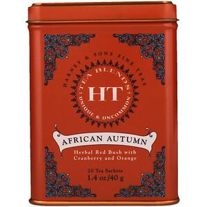 Харни энд сонс, HT Tea Blend, African Autumn, 20 Tea Sachets, 1.4 oz (40 g) отзывы покупателей