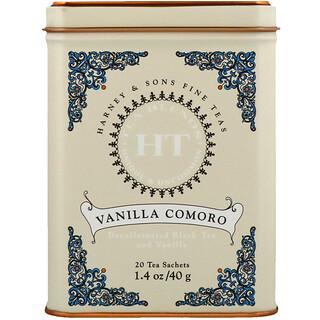 Harney & Sons, Vanilla Comoro Tea, 20 Tea Sachets, 1.4 oz (40 g)