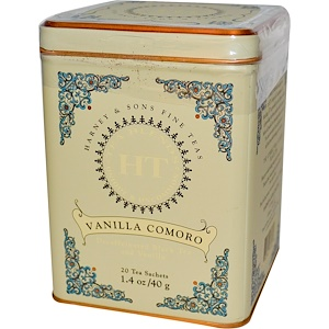 Harney & Sons, Чай коморо с ванилью, 20 пакетиков, 1.4 унции (40 г) инструкция, применение, состав, противопоказания