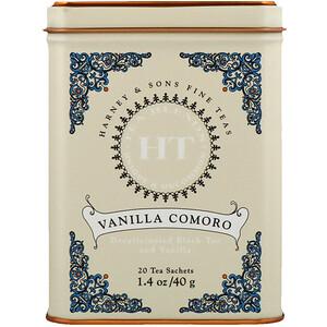Харни энд сонс, HT Tea Blend, Vanilla Comoro Tea, 20 Tea Sachets, 1.4 oz (40 g) отзывы покупателей