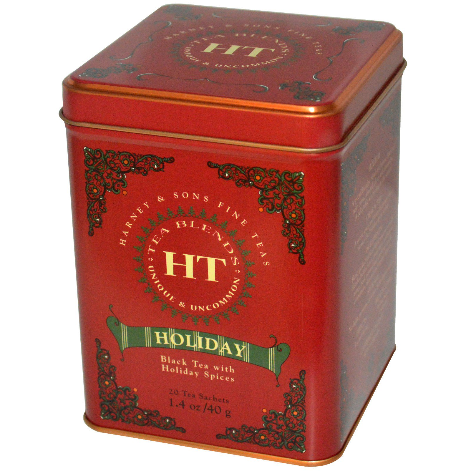 Harney & Sons, Black Tea with Holiday Spices, 20 Sachets, 1.4 oz (40 g) (Discontinued Item)