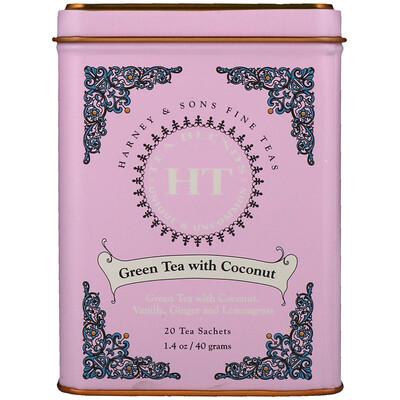 Harney & Sons Green Tea with Thai Flavors, 20 Tea Sachets, 1.4 oz (40 g)