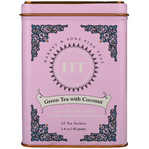 Харни энд сонс, HT Tea Blend, Green Tea with Coconut, 20 Tea Sachets, 1.4 oz (40 g) отзывы покупателей