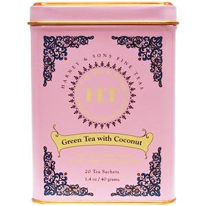 Harney & Sons, Green Tea with Thai Flavors, 20 Tea Sachets, 1.4 oz (40 g)
