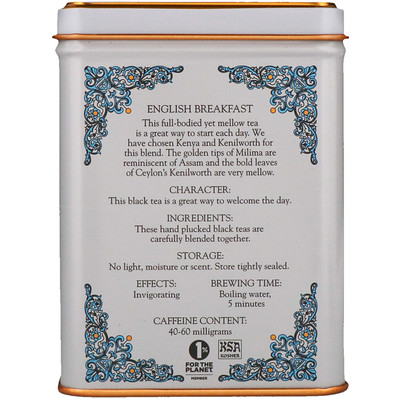 Купить Harney & Sons English Breakfast, чайная смесь HT, черный чай, 20пакетиков, 40г (1, 4унции)