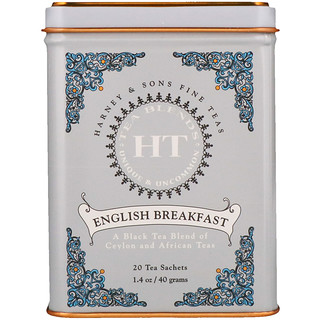 Harney & Sons, English Breakfast, 20 Tea Sachets, 1.4 oz (40 g)