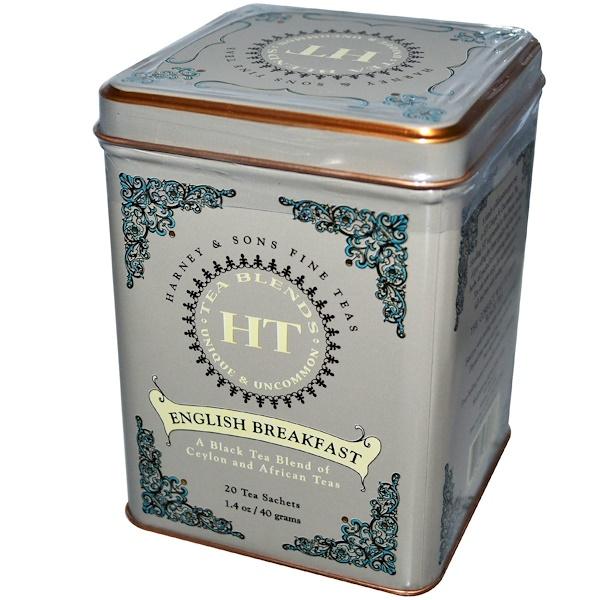 Harney & Sons, English Breakfast, 20 Tea Sachets, 1.4 oz (40 g)