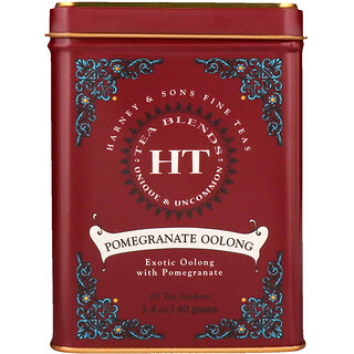 Harney & Sons, Fine Teas, Pomegranate Oolong, 20 Tea Sachets, 1.4 oz (40 g)