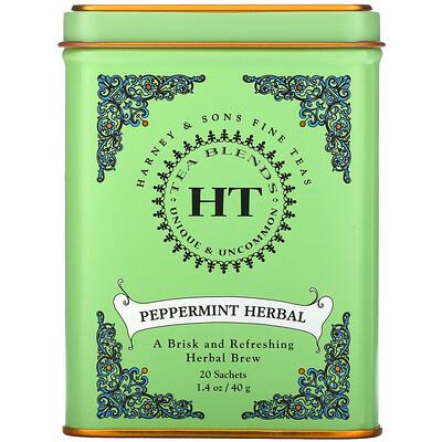 Купить Harney & Sons HT Tea Blend, чай из перечной мяты, без кофеина, 20чайных пакетиков, 40г (1, 4унции)