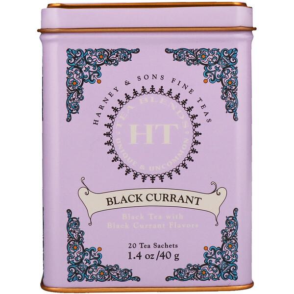 Harney & Sons, HT Tea Blend, Black Currant Tea, 20 Tea Sachets, 1.4 oz (40 g)