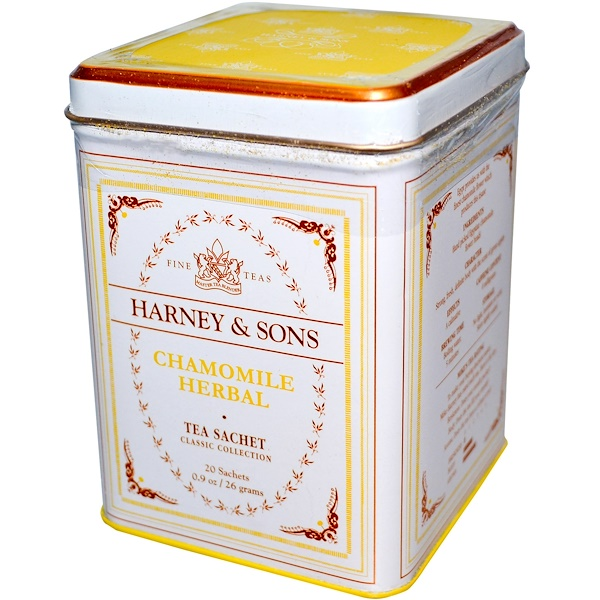 Harney & Sons, Fine Teas, Chamomile Herbal, 20 Sachets, 0.9 oz (26 g)