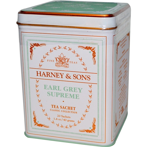 Harney & Sons, Earl Grey Supreme, 20 Sachets, 1.4 oz (40 g)