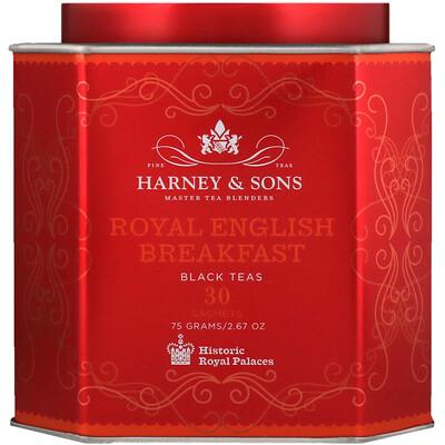 Купить Harney & Sons Королевский английский завтрак, черный чай, 30 пакетиков, по 2, 67 унц. (75 г) каждый