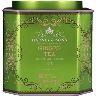 Harney & Sons, Ginger Tea, Ginger with Lemon, 30 Sachets, 2.67 oz (75 g) Each