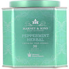 Harney & Sons, Peppermint Herbal, Caffeine-Free Herbal, 30 Sachets, 1.9 oz (54 g)