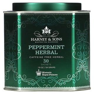 Harney & Sons, Peppermint Herbal, Caffeine Free, 30 Sachets, 1.9 oz (54 g)