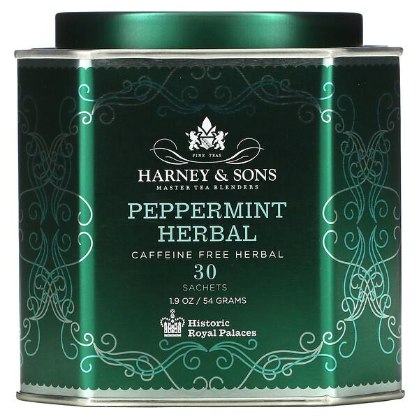 Peppermint Herbal, Caffeine Free, 30 Sachets, 1.9 oz (54 g)