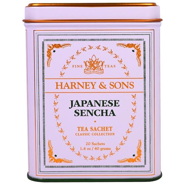 Harney & Sons, شاي سينكا الياباني، 20 كيس، 1.4 أوقية (40 جرام)