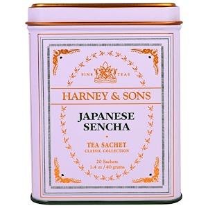 Harney & Sons, Японский Чай Сенча в Пакетиках, 20 штук, по 1,4 унции (40 г) инструкция, применение, состав, противопоказания