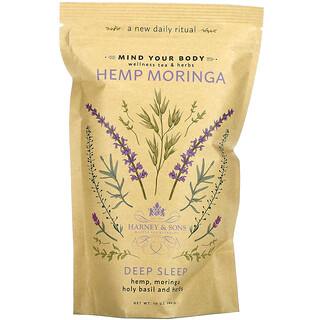 Harney & Sons, Hemp Moringa, Deep Sleep, Wellness Tea & Herbs, 10 oz (283 g)