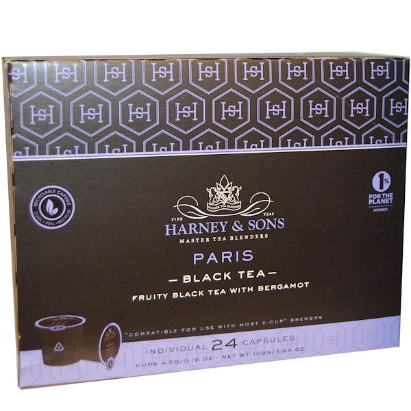 Harney & Sons, Paris, Black Tea, 24 Cups, 0.16 oz (4.5 g) Each (Discontinued Item)