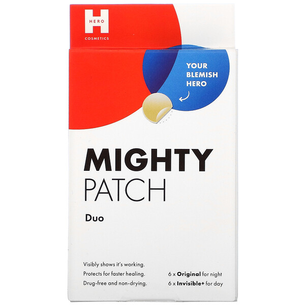 Hero Cosmetics, Mighty Patch Duo,  6 Original + 6 Invisible Patches
