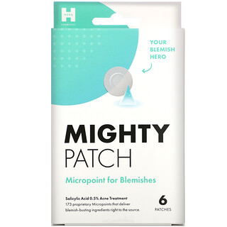Hero Cosmetics, Mighty Patch, Micropoint for Blemishes, 6 Patches