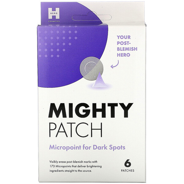 Hero Cosmetics, Mighty Patch, Micropoint contre les taches brunes, 6 patchs