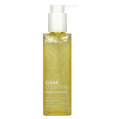 Hero Cosmetics Clear Collective, Exfoliating Jelly Cleanser, 5.07 fl oz (150 ml)  - купить со скидкой